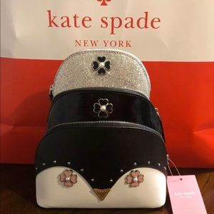 kate spade frosty dome cosmetic set of 3